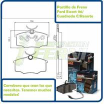Pastillas De Freno Delantera - Ford Escort 96/