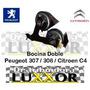 Bocina Doble Peugeot 307 / 308 / Citroen C4 Original