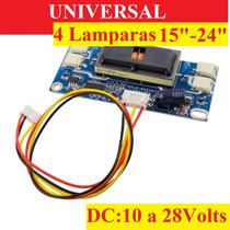 Universal 4 Lamparas Inverter Backlight Monitor Tv Lcd Ve38