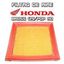 Filtro Aire Original Bros 125 - Xr125 - Pop 100 Moto Delta