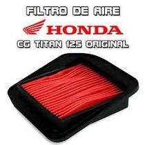 Filtro Aire Original Honda Titan 125 / Fan Moto Delta
