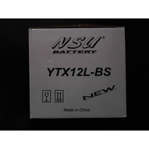 Bateria Nsu Ytx12l Bs Alta Calidad Urquiza Motos