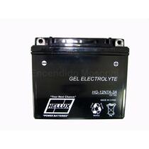 Bateria De Moto Hellux Gel Tipo Yuasa 12n7a-3a 12v