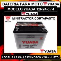 Bateria Yuasa 12n24 Tractor Corta Pasto Grupo Electrogeno.