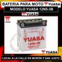 Bateria Yuasa 12n5-3b Motos 110 Smash Crypton Wave C/liquido