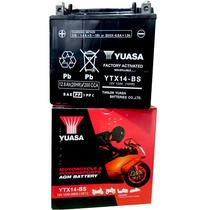 Bateria Gel Yuasa Ytx14-bs Sellada 12v 12ah - En Fas Motos