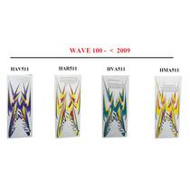 Kit Juego Calcomanias Calcos Honda Wave 100 2009 Simil Envio