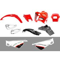 Kit De Plasticos 10 Piezas (rojo) Dakar 200 Motomel