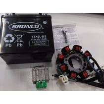 Kit Completo Carga De Bateria Honda Cg 150 Esd Titan