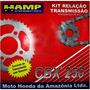 Kit Transmision Honda Cbx 250 Twister Original Fas Motos.