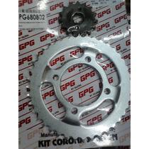Kit Piñon Y Corona Gpg Para Gilera Vc 150 Z39/15