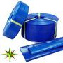 Manguera Manga Plana De Pvc Desagote Riego Color Azul Oferta