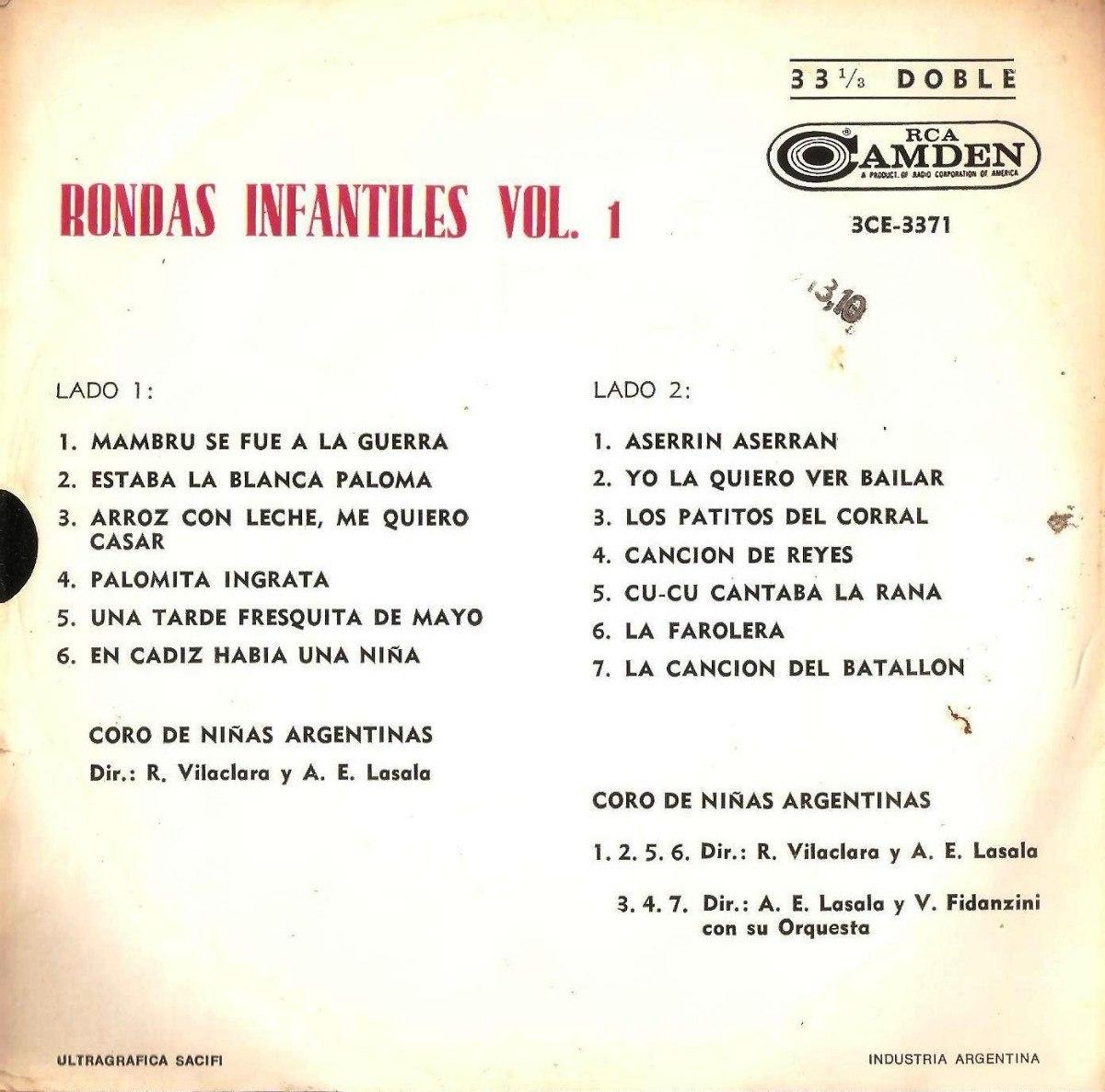 Rondas Infantiles Vol 1 - Coro De Niñas Argentinas - $ 40,00 en ...