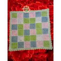 Mantilla/manta Multicolor Para Bebé O Cuna Tejida A Crochet