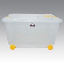 Caja De Plastico Organizadora Con Ruedas X 52 Lts