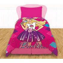 Acolchado Premium Barbie 1 1/2 Plaza Piñata Disney