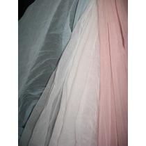 Tela Mosquitero Nylon Blanco Rosa Celes Ancho 140 Cm Te