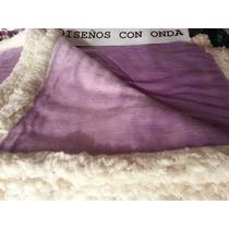 Frazada Microfibra-corderito Violeta Manta Suave Acolchado