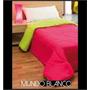 Acolchado Liso Reversible 1 1/2 Plazas- 100% Microfibra