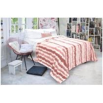 Frazadas De Flannel Fleece Estampado Queen 230 X 240 Cm