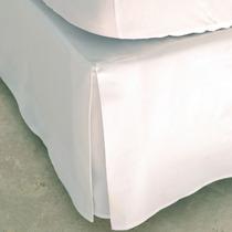Cubresommier De Tela Percal Blanco Queen Size 160 X 200 Cm