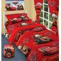 Sabanas Infantiles + Acolchado Disney Piñata Cars Azul Rojo