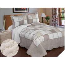 Cubrecama King Size Real Patchwork Quilts Con Corderito