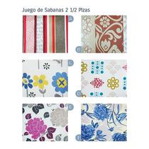 Juego De Sabanas 2 1/2 Plazas Danubio Economicas 132 Hilos