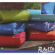 Cover Cubrecama Palette Linea Look 2 1/2 Pl Queen Reversible