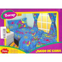 Sabanas Barney Piñata Original 1 Y 1/2 Plaza