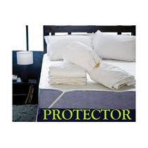 Protector De Colchon 1 1/2 Plaza Con Banda Elastica