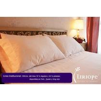Juego De Sabanas Liriope 200 Hilos Hotel Color Blanco