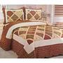 * Colcha Quilts Pachwork Con Funda Campomayo 1 Y 1/2 Pl