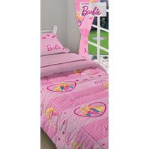 Acolchados Infantiles Barbie 1 1/2 Plaza Envíos