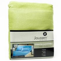 Sábana Ajustable Jaussen Jersey 100% Algodón (violeta, 2 ½)
