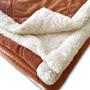 Acolchado Super Soft Con Corderito 1 1/2 Plazas Beige