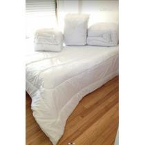 Edredon Acolchado Blanco Super King 100% Algodon 270x240