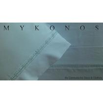 Sabanas Blancas Mykonos 1 Plaza Y 1/2 180 Hilos