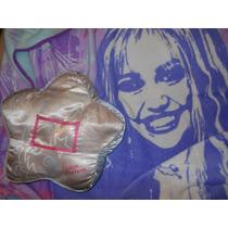 Acolchado Plaza Y Media Con Almohadon De Hannah Montana
