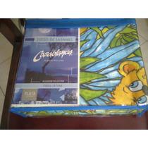 Sabana Infantil 1 1/2 Casablanca Calidad Premium Linea Plata