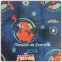 Cortinas Infantiles Spiderman Azul Dos Paños Marvel Piñata