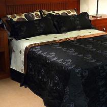 Cobertor Pierre Cardin King (2 X 2 ) Bordado - Trae Fundones