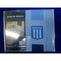 Sabanas De Racing Club Originales Nuevo Modelo,!! 1- 1/2p.