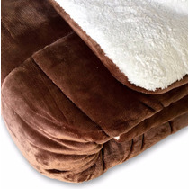 Edredon Super Soft De Flannel Con Corderito King Size Chc