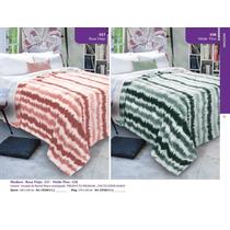 Frazada Reversible Flannel Fleece Tamaño Queen Cartier