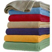 Cubrecama Nido De Abeja Colores 1 1/2 Pl (1.60x2.50) -
