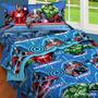 Acolchado Infantil Piñata Avengers + Juego De Sabanas 1360 $