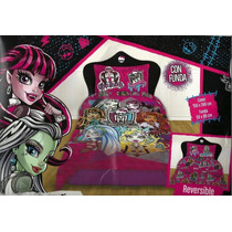 Cover Quilt, Piñata , Monster High , Reversible, 1- 1/2 P.