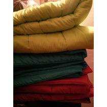 Alcolchados 1 1/2 Plaza Varios Colores Doble Faz