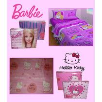 Juegos De Sabanas Infantiles 1 1/2 - Hello Kitty , Barbie